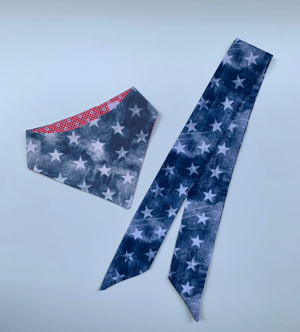 Denim Stars Matching Set Bandana