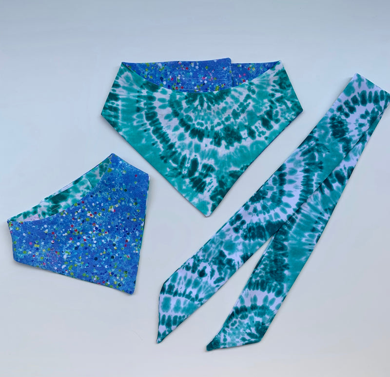 Sea Foam Tie Dye Matching Set
