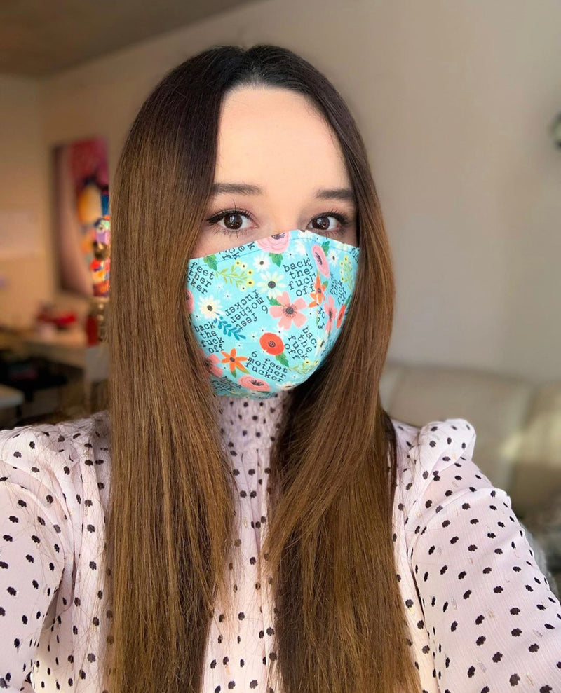 Stay Away Fabric Face Mask