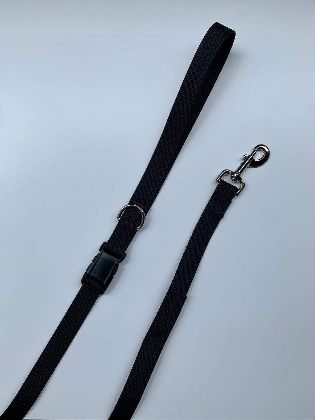 Solid Color Clip On Leash - Black