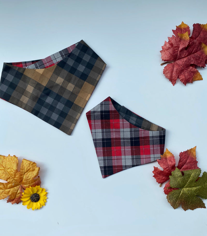 Fall Plaid Bandana