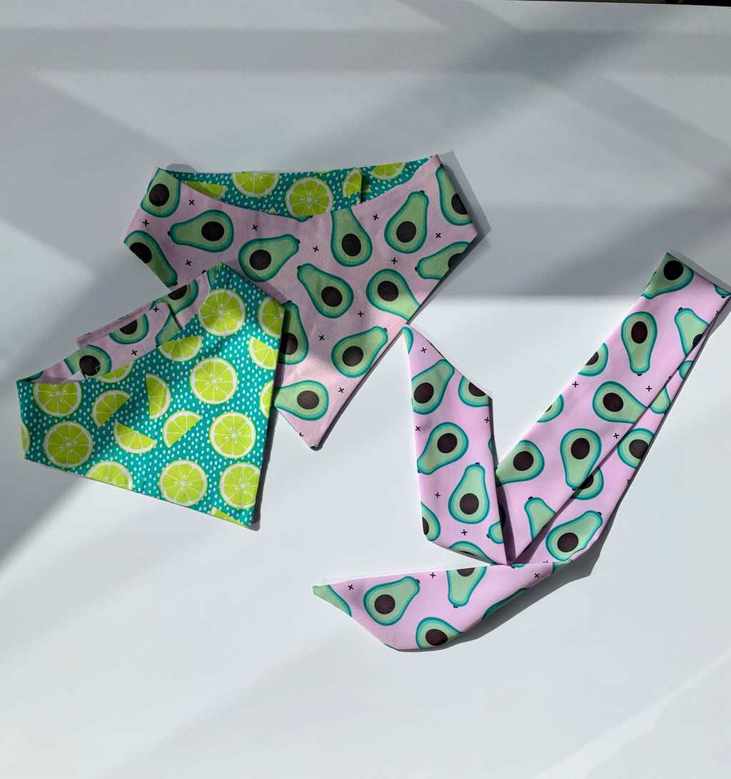Avocado Matching Set Bandana