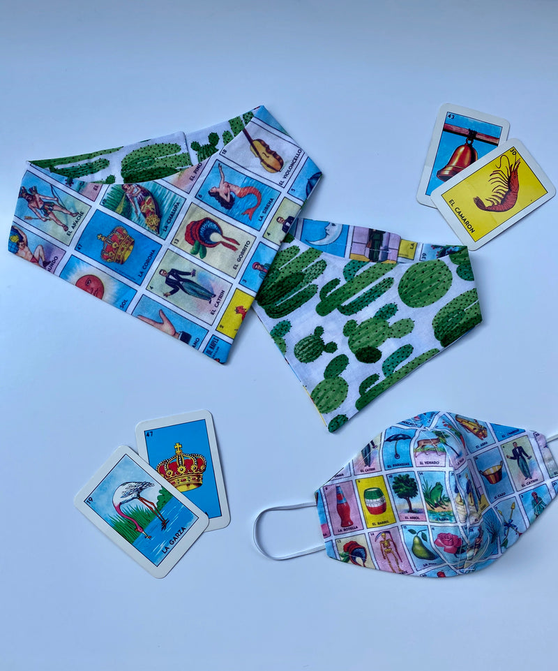 Face Mask Matching Set: Loteria