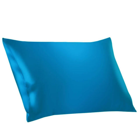 Vshine Silk and Shine 100% Mulberry Silk Pillowcases Envelope Bright Blue