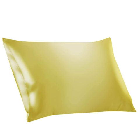 Vshine Silk and Shine 100% Mulberry Silk Pillowcases Envelope Yellow