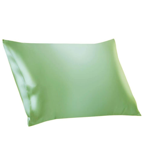 100% Mulberry Silk Pillowcases Envelope Pale Green
