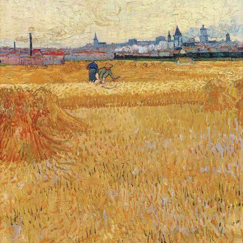 Oil Paint Silk Scarf| Arles View from the Wheat Fields