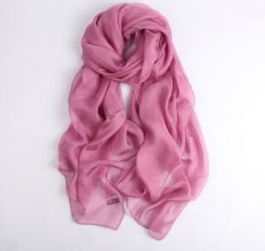 Large Silk Scarf Dusty Pink - Vshine Silk and Shine Fashion Accessories