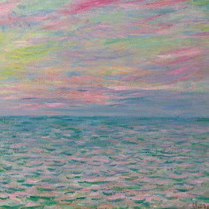 Oil Paint Silk Scarf| Sunset At Pourville Open Sea