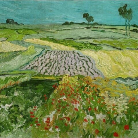Oil Paint Silk Scarf| Wheat Fields near Auvers-sur-oise
