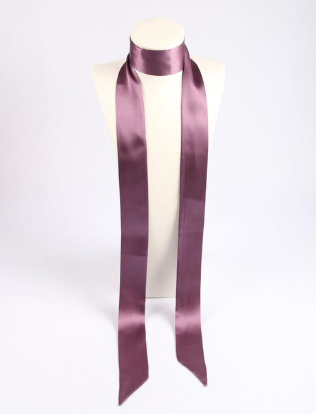 Neutral|Skinny Silk Scarf|Dusty Pink - Vshine Silk and Shine Fashion Accessories