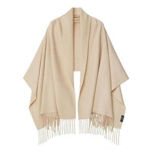 Vshine Silk and Shine Cashmere Shawl Beige