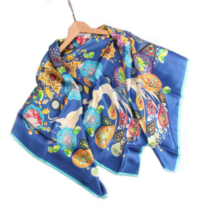 Limited Edition Extra Large Silk Scarf Blue