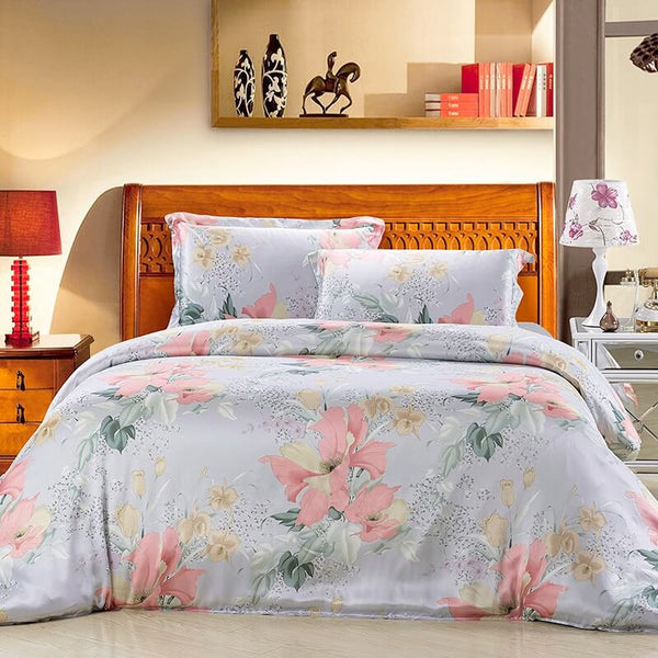 Luxury Silk and Shine Bedding Classic Botanical Wonderland
