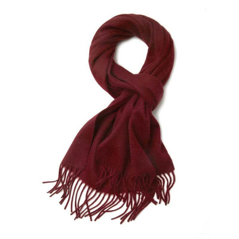 Vshine Silk and Shine 100% Cashmere Scarf Bungundy Pure Cashmere