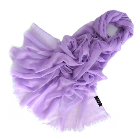 Vshine Silk and Shine Extra Large 100% Cashmere Shawl Lilac