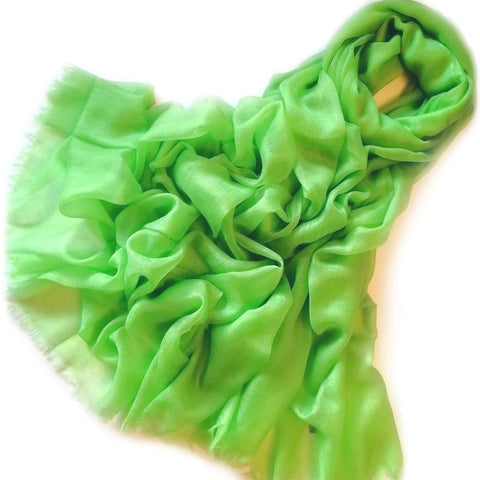 Vshine Silk and Shine Extra Large Finest Cashmere Shawl Green