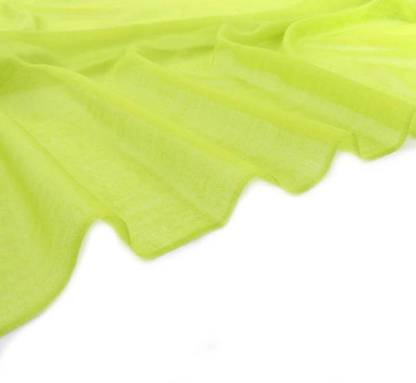 Extra Large Finest Cashmere Shawl Bright Lime