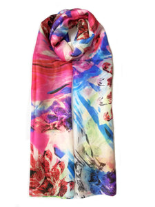 Large Silk Scarf Colour Pop - Vshine Silk and Shine Fashion Accessories