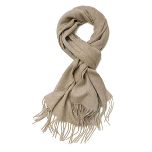 Cashmere Scarf Dark Natural