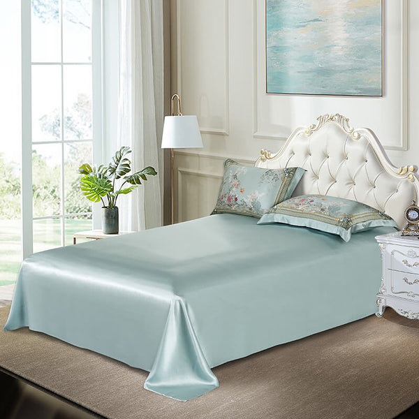 Luxury Silk and Shine Bedding Set Pure Lux Green