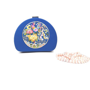 Luxury jewellery box with silk embroidery - Vshine Silk and Shine Fashion Accessories