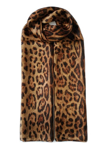 Large Silk Scarf Leopard Original - Vshine Silk and Shine Fashion Accessories