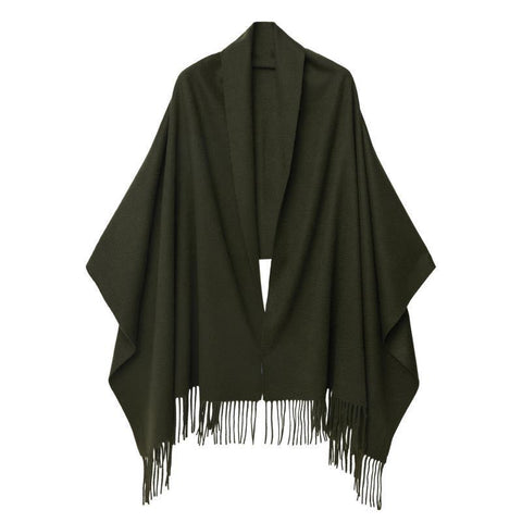 Cashmere Shawl Military Green