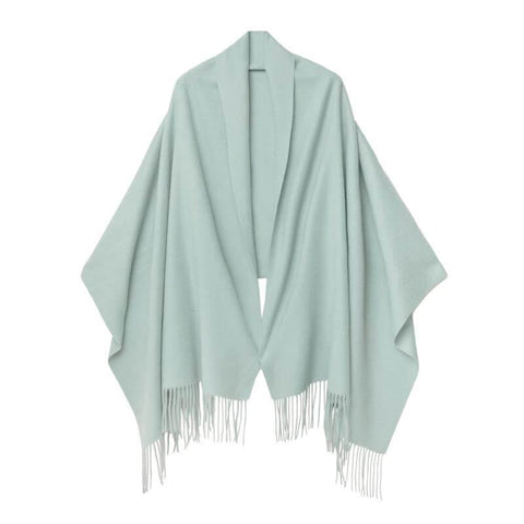 Vshine Silk and Shine Cashmere Shawl Mint