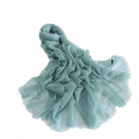 Extra Large Finest Cashmere Shawl Mint Green