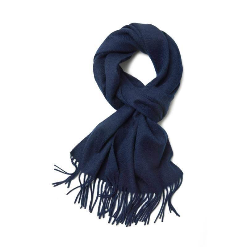 Vshine Silk and shine Cashmere Scarf Navy