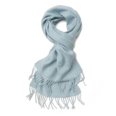 Vshine Silk and Shine Cashmere Scarf Pale Blue