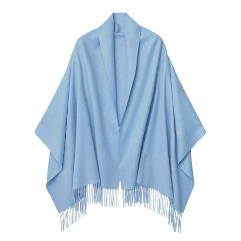 Vshine Silk and Shine Cashmere Shawl Pale Blue