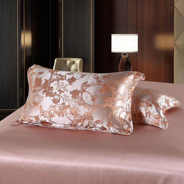 Luxury Silk and Shine Bedding Set Pure Lux Pink