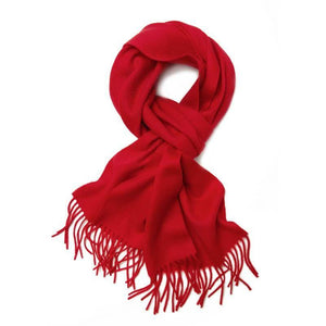 Vshine Silk and Shine Cashmere Scarf Red