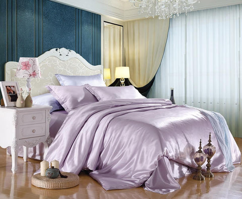 Luxury Silk and Shine Bedding Lilac