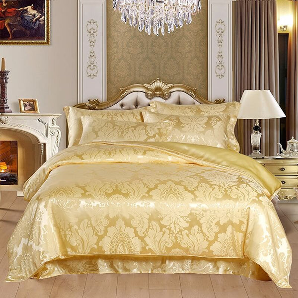 Luxury Silk and Shine Bedding Set Pure Lux Jacquard