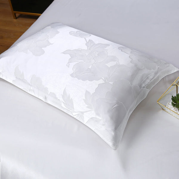 Luxury Silk and Shine Bedding Set Pure Lux Neutral Tone Snowwhite Dreams