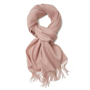 Vshine Silk and Shine Cashmere Scarf Soft Pink