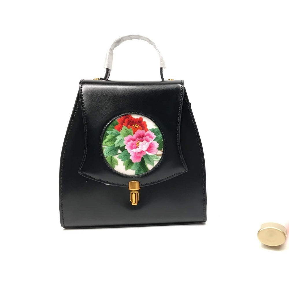 Vshine Silk and Shine Silk embroidery handbag small