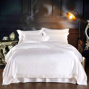 Luxury Silk and Shine Bedding Set Pure Lux Neutral Tone A Princess Dream
