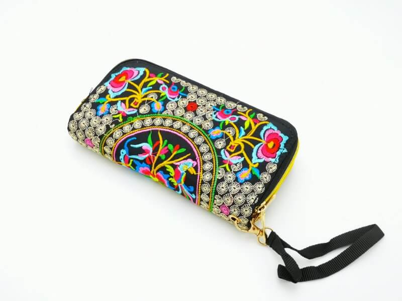 Machine stitched wallets with zipped compartments pink - Vshine Silk and Shine Fashion Accessories