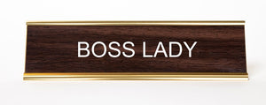 Boss Lady Desk Plate