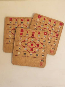 Bingo Cards-set of 3