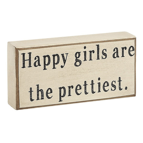 Happy Girls Box Sign