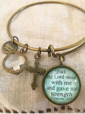 But the Lord stood with me Bangle Bracelet
