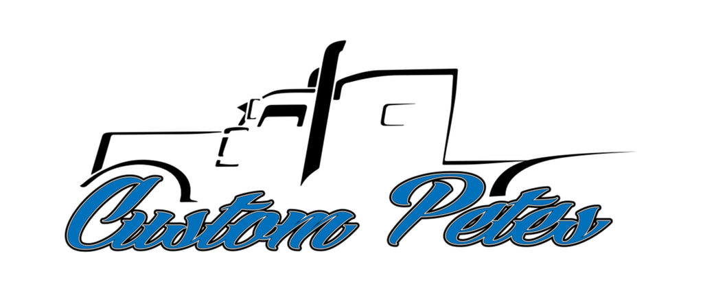 Custom Pete Truck Sticker (Blue)