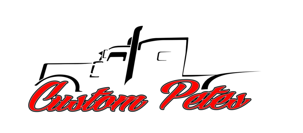 Custom Pete Truck Sticker (Red)