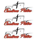 Custom Pete Truck Sticker (Red) 3 Pack