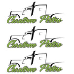 Custom Pete Truck Sticker (Green) 3 Pack